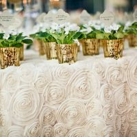 Ivory-Rosette-Table-Linen-for-Weddings